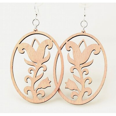 Flower Oval Earrings