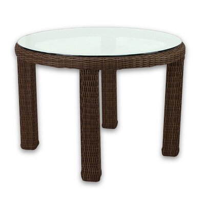 Patio Heaven Signature Dining Table Round with Tempered Glass Top