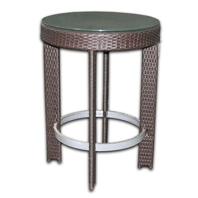 Patio Heaven Signature Round Bar Table Set