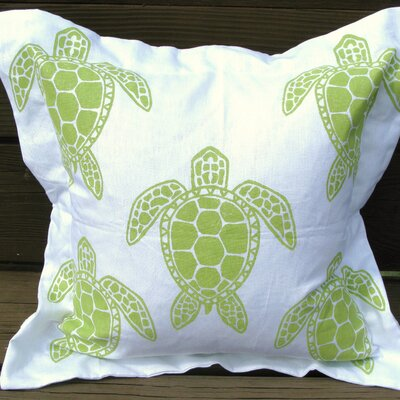 Lowcountry Linens Sea Turtle Pillow