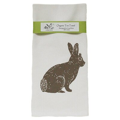 Artgoodies Organic Bunny Block Print Tea Towel