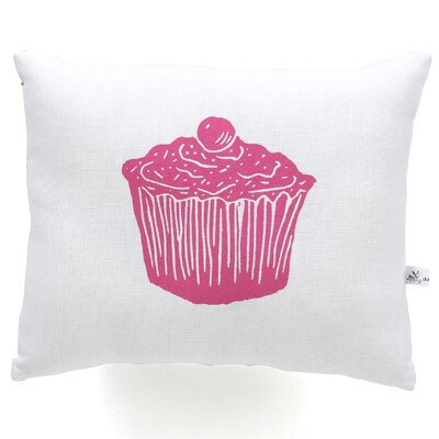 Cupcake Block Print Squillow Accent Pillow