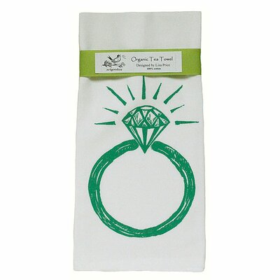 Organic Ring Block Print Tea Towel