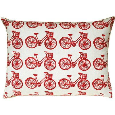 Artgoodies Bike All Over Pattern Block Print Accent Pillow