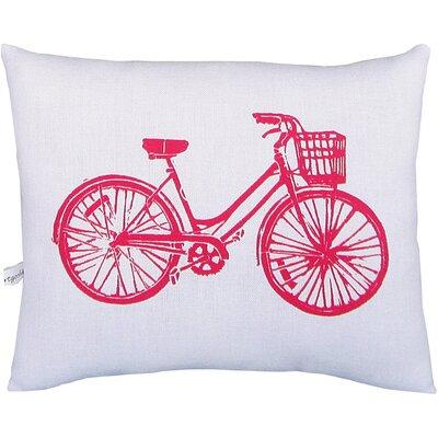 Artgoodies Bike Block Print Squillow Accent Pillow