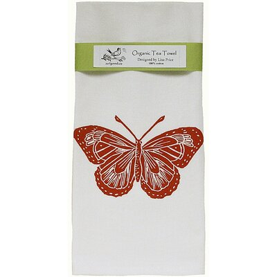 Artgoodies Organic Butterfly Block Print Tea Towel
