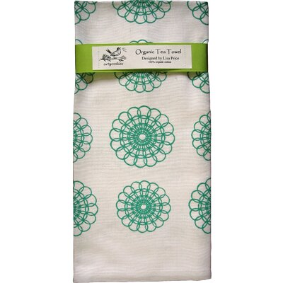 Organic Doily All Over Pattern Block Print Tea Towel