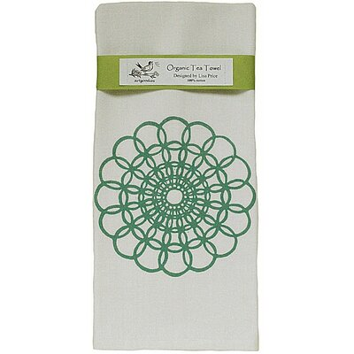 Organic Doily Block Print Tea Towel