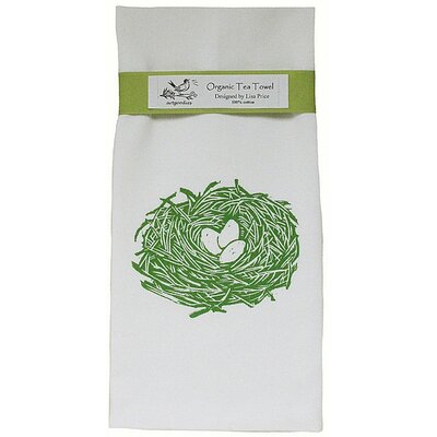 Artgoodies Organic Nest Block Print Tea Towel