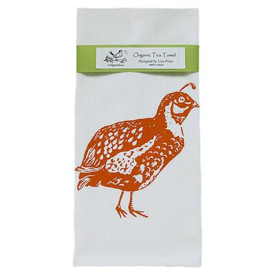 Organic Quail Block Print Tea Towel
