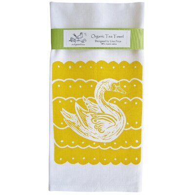 Artgoodies Organic Swan Block Tea Towel
