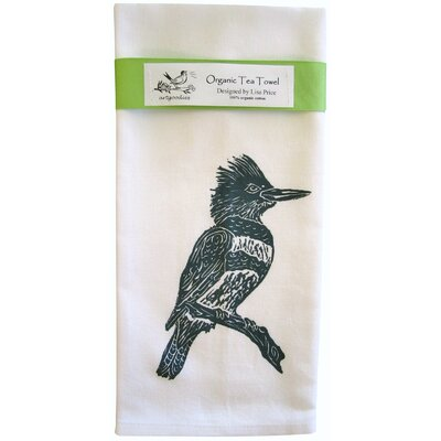 Artgoodies Organic Kingfisher Block Print Tea Towel