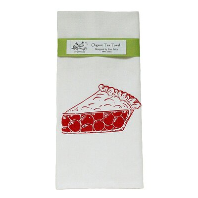 Organic Cherry Pie Block Print Tea Towel