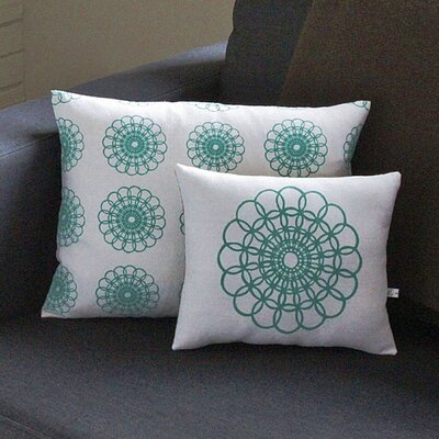 Artgoodies Doily All Over Pattern Block Print Accent Pillow