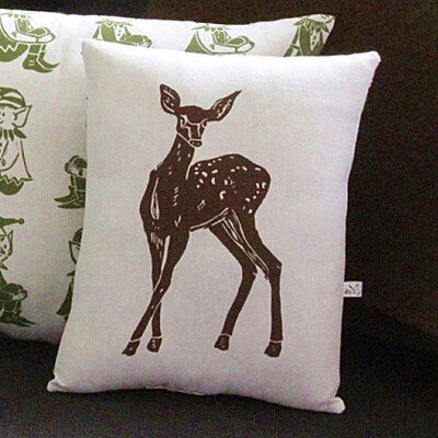 Artgoodies Deer Block Print Squillow Accent Pillow