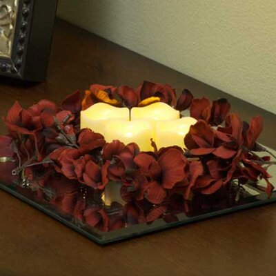 Pacific Accents Resin Wavy Top Flameless Tea Lights Candle (Set of 4)