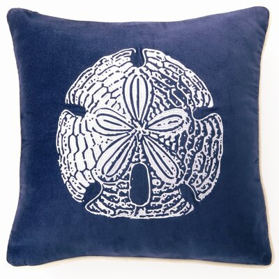 Sand Dollar Down Filled Embroidered Velvet Pillow