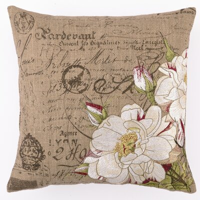 D.L. Rhein Tipped Rose Down Filled Embroidered Pillow