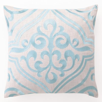 D.L. Rhein Tile Down Filled Embroidered Linen Pillow