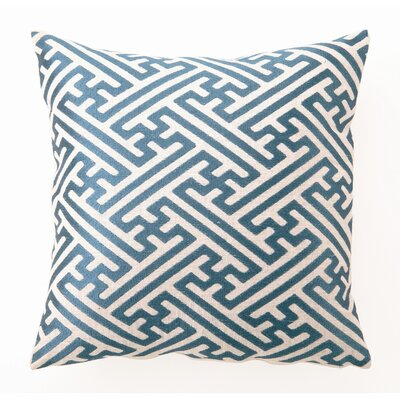 D.L. Rhein Cross Hatch Down-Filled Embroidered Pillow