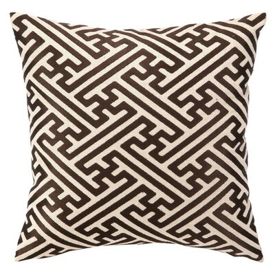 Cross Hatch Down Filled Embroidered Linen Pillow