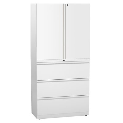 Great Openings Trace 3 Drawer Lateral File with 3-High Storage Cabinet