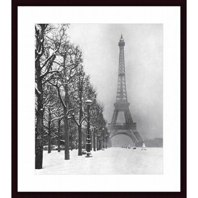 Barewalls Eiffel Tower, 1948 Wood Framed Art Print