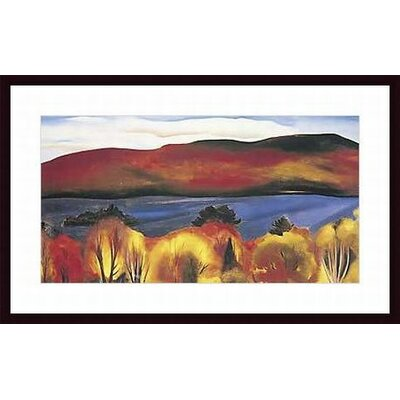 Lake George Autumn 1927 by Georgia O'Keefe Wood Framed Art Print