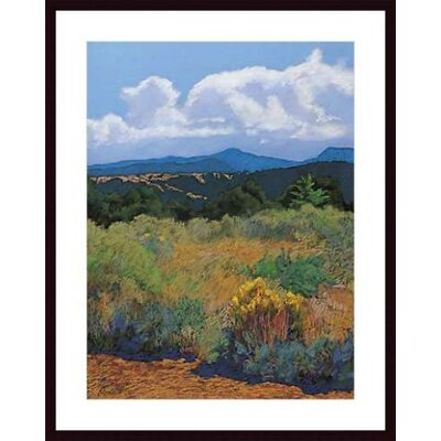 Barewalls Distant Hills Wood Framed Art Print