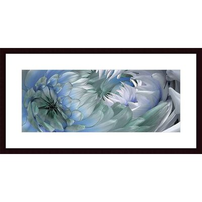 Barewalls Dahlias #6 Wood Framed Art Print