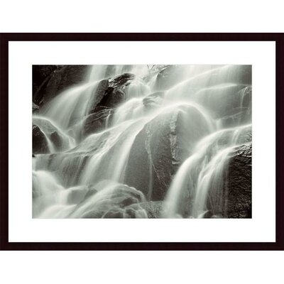 Barewalls Waterfall, Yosemite Wood Framed Art Print