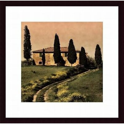Barewalls Tuscan Farmhouse Wood Framed Art Print