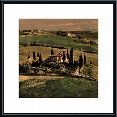 Tuscan Villa Metal Framed Art Print