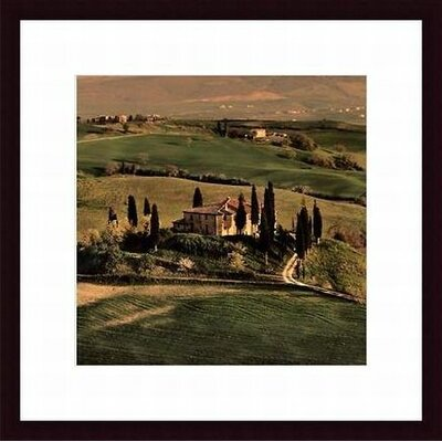 Tuscan Villa Wood Framed Art Print