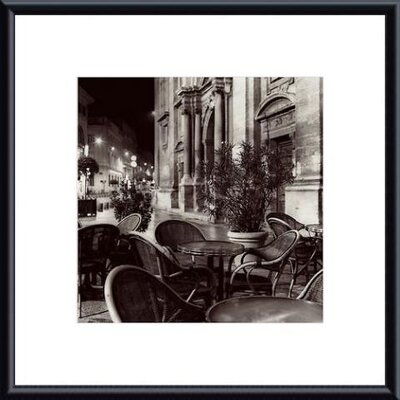 Cafe, Avignon Metal Framed Art Print
