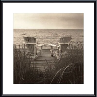 Beach Chairs Metal Framed Art Print