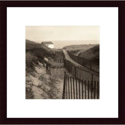 Barewalls Dune Fence Wood Framed Art Print