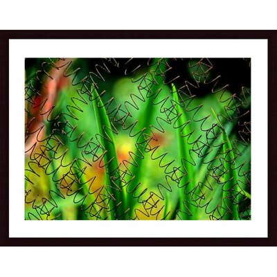 Barewalls Rusted Springs Wood Framed Art Print