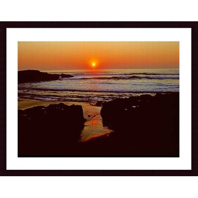 Barewalls Sunset Wood Framed Art Print