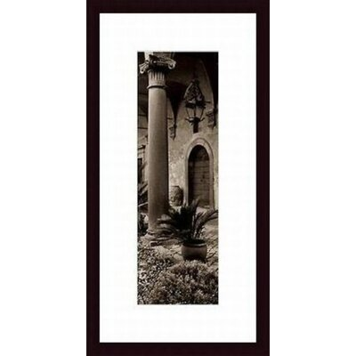 Barewalls Portico, Umbria Wood Framed Art Print