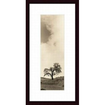 Vintage Oak Tree Wood Framed Art Print