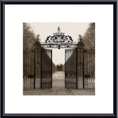Barewalls Hampton Gate Metal Framed Art Print