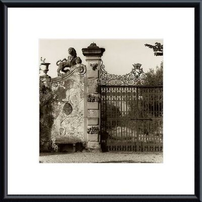 Tuscan Gate Metal Framed Art Print