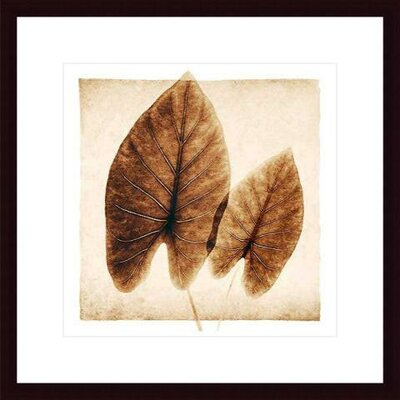 Barewalls Taro Leaves Wood Framed Art Print