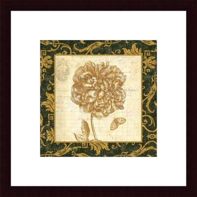 Barewalls Peony by Paula Scaletta Wood Framed Art Print