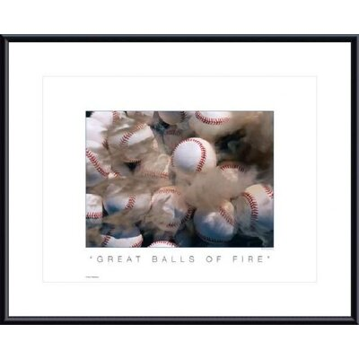 Barewalls Great Balls of Fire Metal Framed Art Print