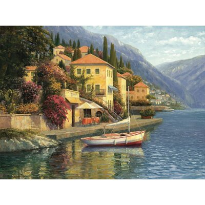 Lake Como Blossom Gallery Wrapped Canvas Art