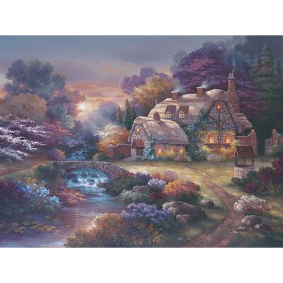 Garden Wishing Well Gallery Wrapped Canvas Art