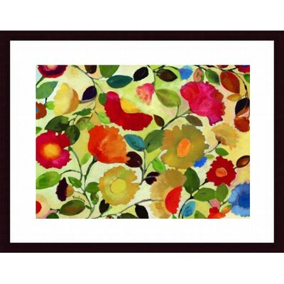 Tuscan Garden by Kim Parker Wood Framed Art Print