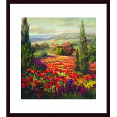 Barewalls Fields of Bloom Wood Framed Art Print